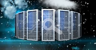 Digital composite image of servers Stock Photography