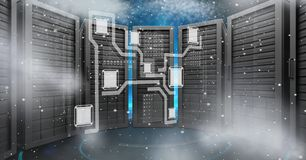 Digital composite image of servers Royalty Free Stock Photos