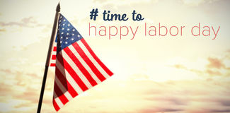 Composite image of digital composite image of time to happy labor day text Royalty Free Stock Photography