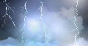 Lightning strikes in clouds. Digital composite of Lightning strikes in clouds Royalty Free Stock Photos