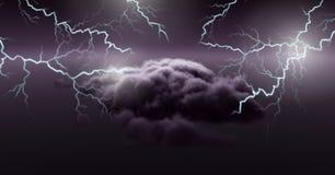 Lightning strikes in sky. Digital composite of Lightning strikes in sky Stock Photography