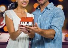 Digital composite of loving couple Stock Photo