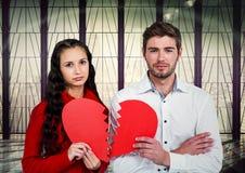 Digital composite of loving couple Stock Image