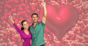 Digital composite of loving couple Stock Photos