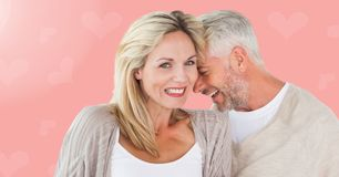 Digital composite of loving couple Royalty Free Stock Images