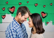 Digital composite of loving couple Royalty Free Stock Image