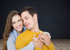 Digital composite of loving couple Royalty Free Stock Photography