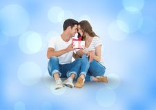 Digital composite of loving couple Stock Images