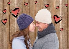 Digital composite of loving couple Royalty Free Stock Photos