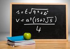 Math equations on blackboard Royalty Free Stock Photo