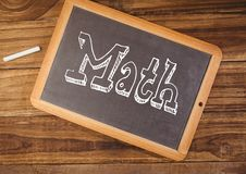 Math text on blackboard Royalty Free Stock Image