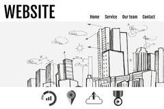 Minimalist website interface. Digital composite of Minimalist website interface Royalty Free Stock Photos