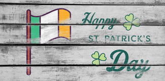 Digital composite of Patricks day greeting Royalty Free Stock Photos