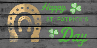 Digital composite of Patricks day greeting Stock Photography