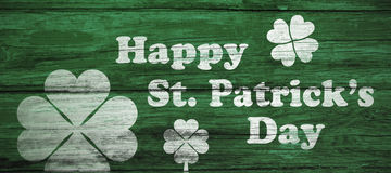 Digital composite of Patricks day greeting Royalty Free Stock Images