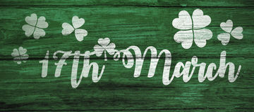 Digital composite of Patricks day greeting Stock Images