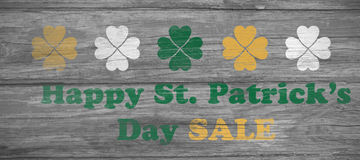 Digital composite of Patricks day greeting Stock Photos