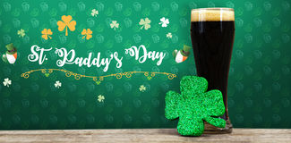 Digital composite of Patricks day greeting royalty free illustration