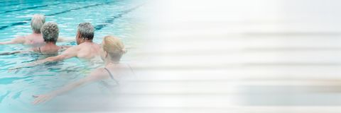 People in Swimming pool with transition Royalty Free Stock Photos