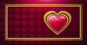 Shiny heart graphic with love hearts background. Digital composite of Shiny heart graphic with love hearts background Stock Photos