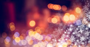 Snowflake Christmas pattern. Digital composite of Snowflake Christmas pattern Stock Photos