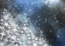 Snowflake Christmas patterns. Digital composite of Snowflake Christmas patterns Royalty Free Stock Image
