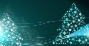 Snowflake Christmas tree pattern shapes. Digital composite of Snowflake Christmas tree pattern shapes Stock Photos