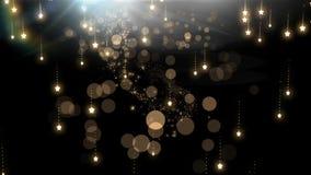 Sparkling falling magical Christmas stars royalty free illustration