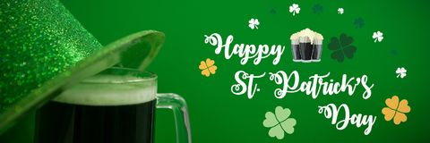 St Patricks Day Greeting. Digital composite of St Patricks Day Greeting stock illustration