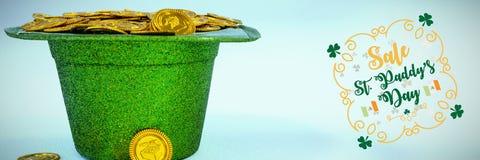 St Patricks Day Greeting. Digital composite of St Patricks Day Greeting stock images