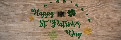 St Patricks Day Greeting. Digital composite of St Patricks Day Greeting royalty free stock images