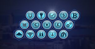 Various business icons. Digital composite of various business icons stock illustration