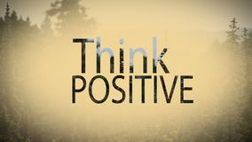 Digital composite video of think positive