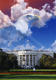 Digital composite: The White House with American eagle Royalty Free Stock Image