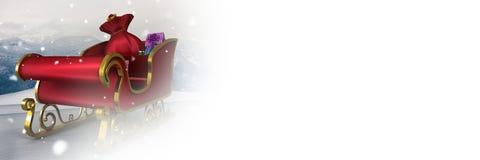 White transition of Santa`s sleigh. Digital composite of White transition of Santa`s sleigh Stock Image