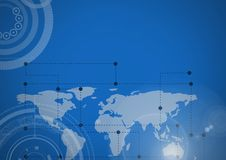 World map with interface Royalty Free Stock Image