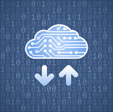 Digital Computer Cloud Royalty Free Stock Images