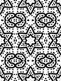 Decorative abstract pattern with a black lines and circles. Digital computer graphic - in a black - white colors for design. The Author - Irina Peshkareva Royalty Free Stock Image