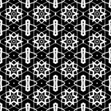Decorative abstract pattern with six-pointed stars. Digital computer graphic - in a black - white colors for design. The Author - Irina Peshkareva Royalty Free Stock Image