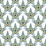 Seamless abstract pattern with a decorative five-pointed stars. Digital computer graphic - Seamless abstract pattern with a decorative five-pointed stars for Stock Photos