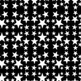 Seamless abstract ornament with a white five-pointed stars. Digital computer graphic - seamless abstract pattern with a five-pointed stars for design royalty free illustration