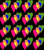 Seamless background with colorful hearts. Digital computer graphic - seamless background with colorful hearts for love Stock Photo