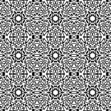 Seamless decorartive outline pattern in a black  -white colors. Digital computer graphic - seamless decorative outline pattern in a black - white colors for Royalty Free Illustration