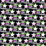 Seamless pattern with a five pointed stars on a translucent colors. Digital computer graphic - seamless pattern with a five pointed stars on a translucent colors royalty free illustration