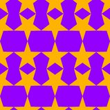 Seamless pattern in a orange - purple colors with a five-pointed stars. Digital computer graphic - seamless pattern in a orange - purple colors with a five stock illustration