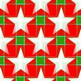 Seamless pattern in a red - white colors with a five-pointed stars. Digital computer graphic - seamless pattern in a red - white translucent colors with a five vector illustration