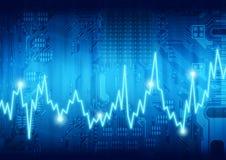 Digital computer heartbeat stock image