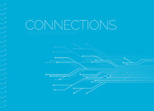 Digital connection network  design Stock Photo