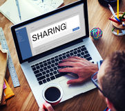 Digital Content Sharing Connect Website Searchbar Concept Stock Photos