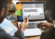 Digital Content Sharing Connect Website Searchbar Concept Royalty Free Stock Image